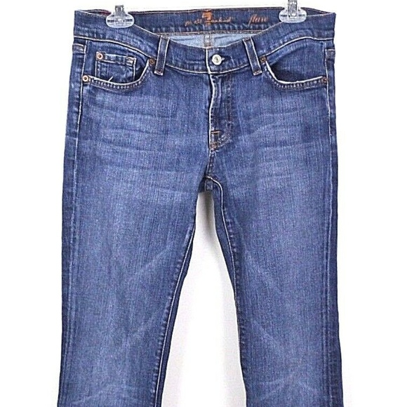 7 For All Mankind Denim - 7 For All Mankind Women's Jeans Flare Medium Wash